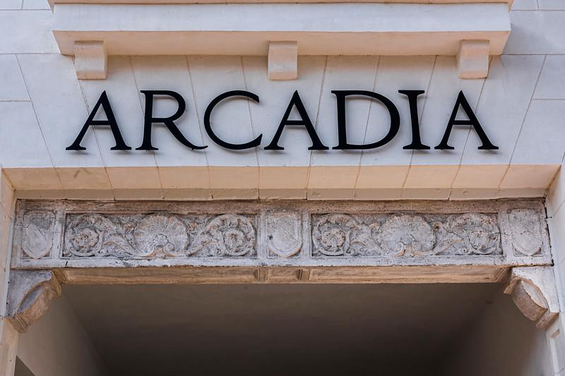 Pediment Entrance (Detail) - Arcadia Theater, Kerrville, TX