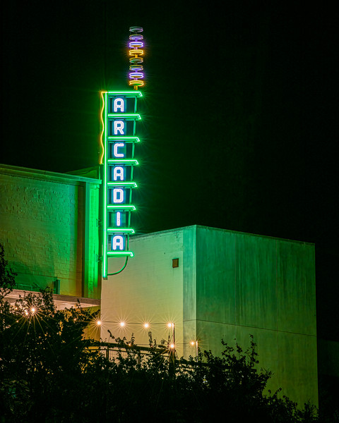 Arcadia Theater from the Guadalupe River - Kerrville, TX