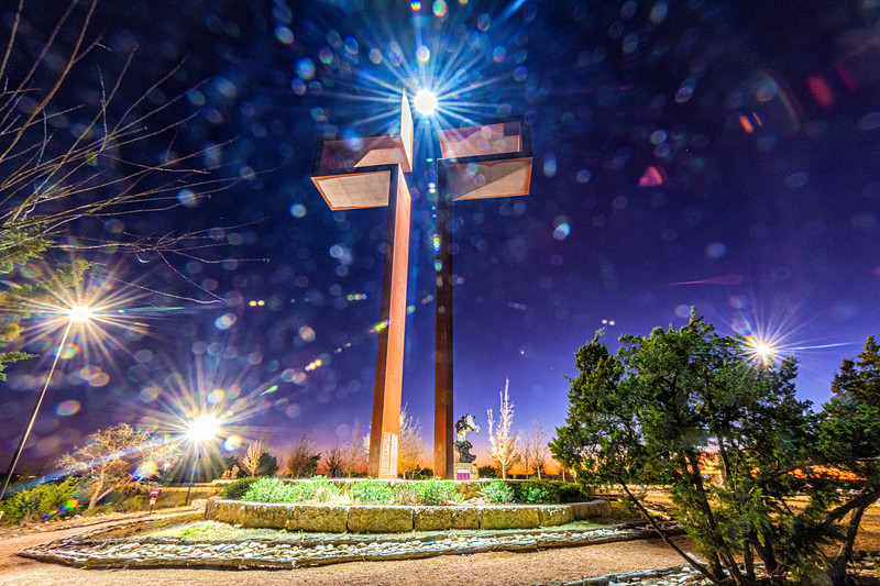 """The Empty Cross""®, ""The Coming King""® by Max Greiner, Jr. Designs © - The Coming King Sculpture Garden - Kerrville, TX"