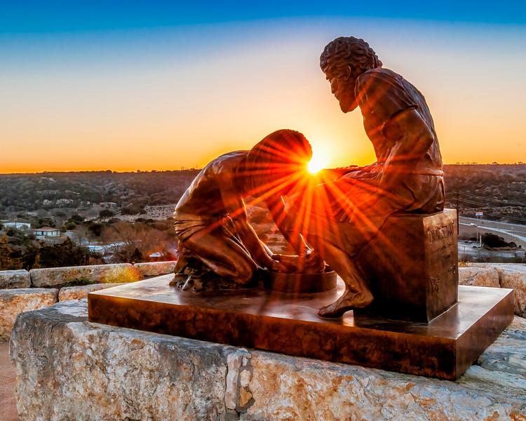 """Divine Servant""® Jesus Washing the Feet of Simon Peter"