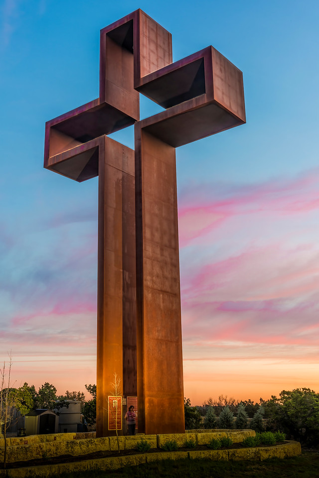 'The Empty Cross' by Max Greiner, Jr - The Coming King Sculpture Garden - Kerrville, TX