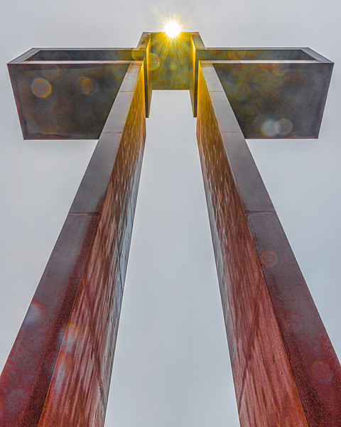 """The Empty Cross""™  by Max Greiner, Jr. Designs © - The Coming King Sculpture Garden - Kerrville, TX"