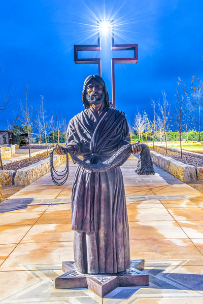 """Fisher of Men"" ® bronze sculpture by Max Greiner, Jr. Designs © - The Coming King Sculpture Garden - Kerrville, TX - Photo by DHL Photographix©"