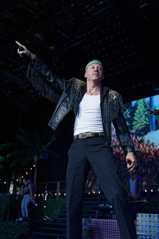 . Macklemore live at DTE on 7-18-18.  Photo credit: Ken Settle