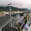 At the Alaska ferry terminal at Ketchikan...onboard the Alaska ferry Columbia heading down to Prince Rupert. New IFA ferry terminal with the M/V Prince of Wales tied up there over on the left....