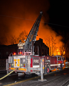 3 Alarm Vacant Mill Fire - South Main & Pearl St, Waterbury, CT - 12/31/16