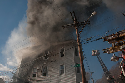 Multi Alarm Structure Fire - 49 High St, Waterbury, CT - 4/11/15