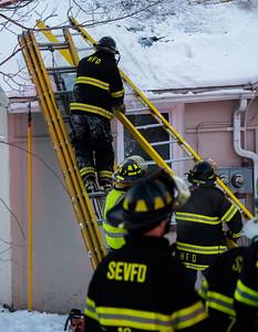 Structure Fire - 35 Burlington Rd, Harwinton, CT - 1/8/17