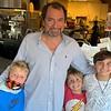 Evviva Director of Operations/Chef Anthony DePalma with his adorable boys, Nicolas, Rocco and Antonio