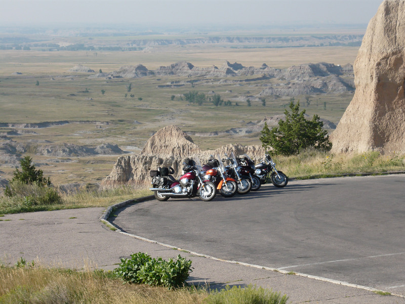 Even the Badlands look better with bikes in the picture.