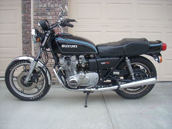 This is my first. She's a 1978 Suzuki GS 750.