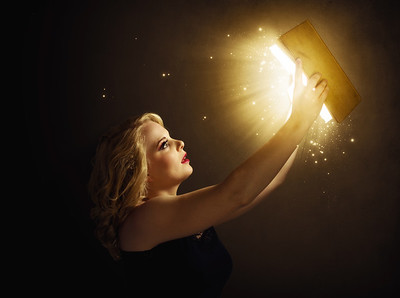 Woman with magic book
