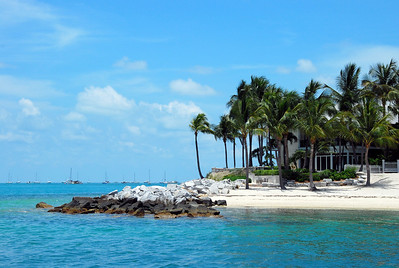 A nice water view from Sunset Key which is a private island just 1/4 mile from Key West Harbor.  Must be reached by ferry.