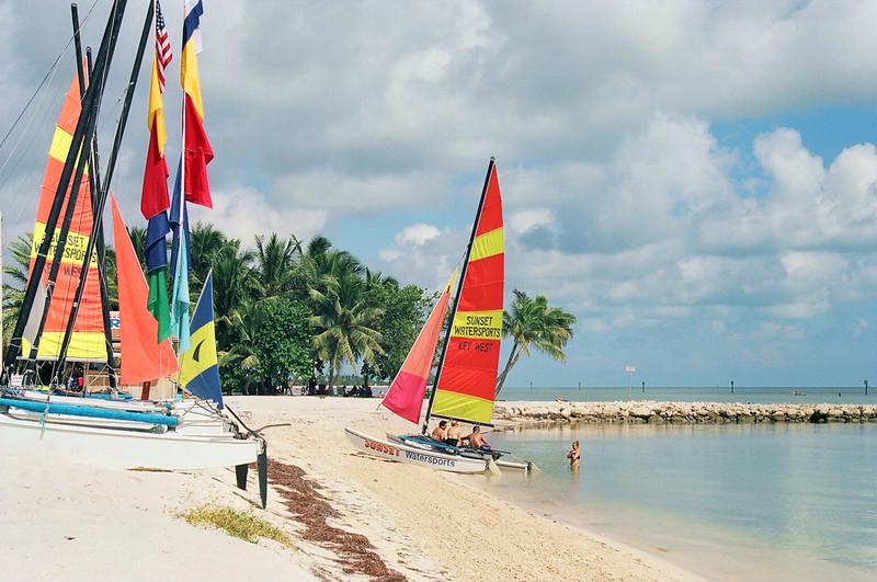 Smather's Beach sailboat rentals.