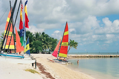 Smather's Beach sailboat rentals.