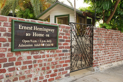 Ernest Hemingway lived in Key West from 1928-1940 and then moved to Cuba to live for several years.  This historic home and grounds are open for tours.  And no, the little building behind the gate is not his house, that is the ticket booth.