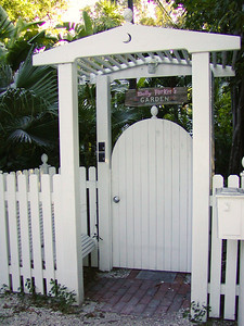 The gate to Molly Parker's Garden