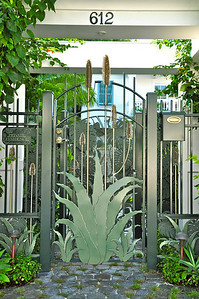 The Aloe gate. And if you think the gate is beautiful you should see the house that sits behind it!