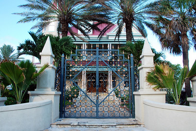 The Gates to the Southernmost House.