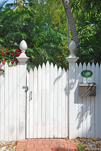 Pineapple capitals on your gate.