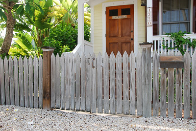 Picket fence gates. No paint needed.
