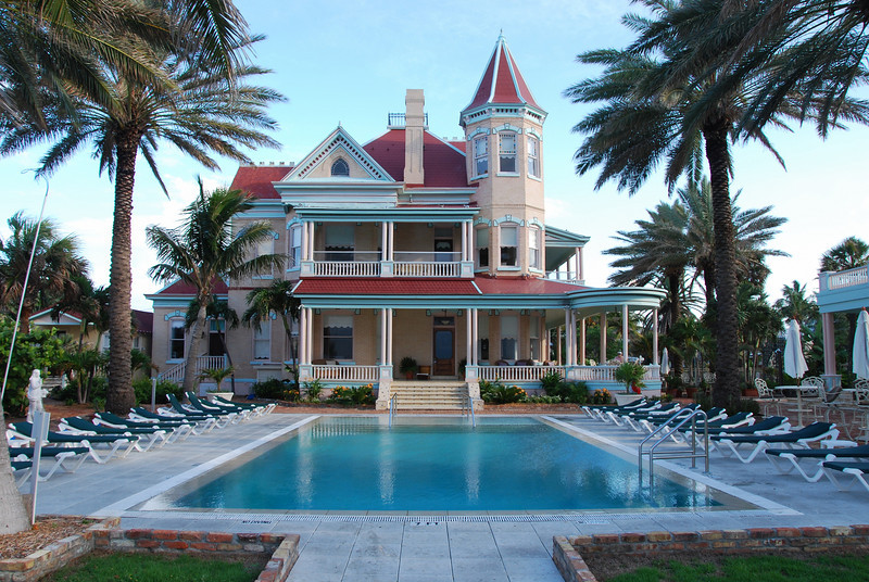 """The Southernmost House in Key West was built in 1896 by Judge J. Vining Harris at the corner of Duval and South Streets.  This unique property is a """"must see"""" on any visitors list of things to do in Key West."""