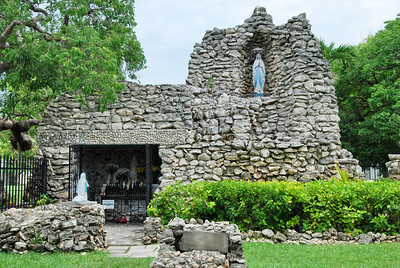 Fashioned after the Lady of the Loudes Grotto in France, this grotto was built by Sister Mary Louis Gabriel to protect Key West from Hurricanes.  Dedicated in 1922, there have been no major Hurricances to make landfall in Key West since then.