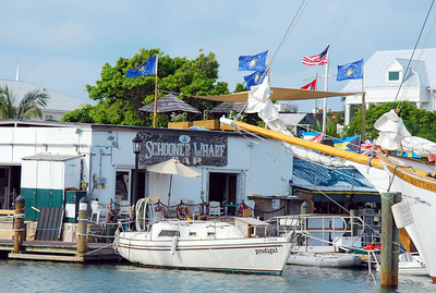 The Schooner Wharf Bar.  This is a great place to spend an hour or a lifetime, just ask Michael McCloud.