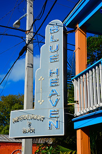 Blue Heaven is a restaurant in Key West that exudes the true personality of the Conch Republic. Situated in 100 year old wooden house painted baby blue with mainly outside dining and chickens under your table;  Blue Heaven serves delicious breakfast, lunch, and dinner in an entertaining and very casual environment.