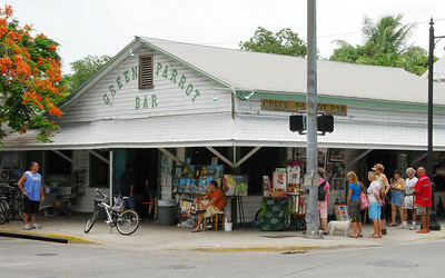 """A Saturday art show at the famous Green Parrot Bar.  Truly a local """"dive"""" if there ever was one."""