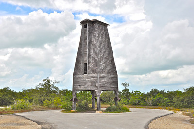 This Landmark is actually just east of Key West on Sugarloaf Key.  It is a bat house over 30' tall built in 1929 by Richter Perky to be home for thousands of bats in hopes of controlling the local mosquito population.  But the bats never stayed, only the bat tower still remains.