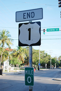 The End of U.S. 1---Mile Marker 0