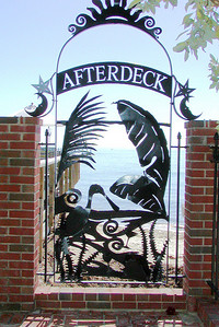 Gate to the Afterdeck Bar at Louie's Backyard