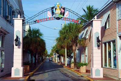 The Gateway to Bahama Village on the corner of Duval and Petronia.