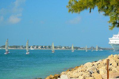 The Key West Race week is held every January as an international regatta held for over 25 years.