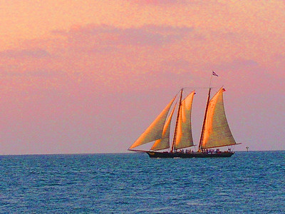 Sunset sail on the Schooner America
