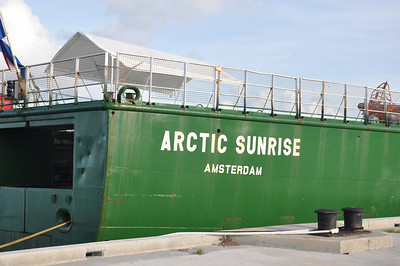 Arctic Sunrise is the smallest ship in the Greenpeace fleet however that does not prevent from it from taking action against illegal loggers in the Amazon river, illegal whaling by Japanese vessels and climate research in both the Arctic and Antarctic seas.  It stopped in Key West in August 2010 on its way to do environmental research in the Gulf of Mexico after the recent massive oil spill by the BP drilling rig collapse.