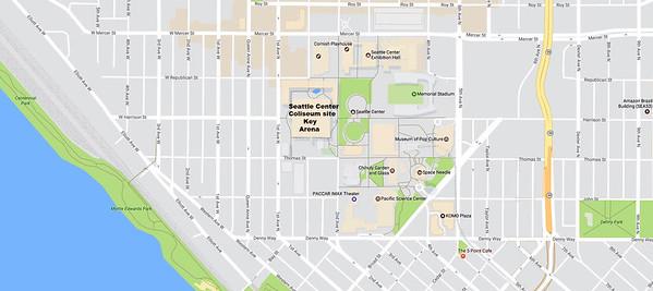 Key Arena Seattle Map.Keyarena Seattle Washington Bob Busser