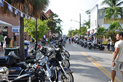 Each September, thousands of motorcycles and riders take part in the Poker Run from Miami to Key West.  Then it is a two day show and admire event for all parties involved.