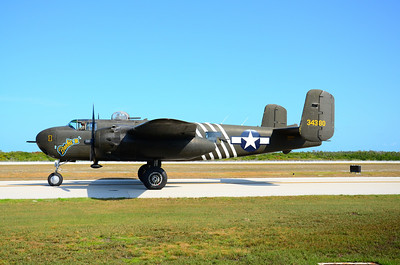 This is the last remaining WWII B-25H Mitchell Bomber still flying in the world today.