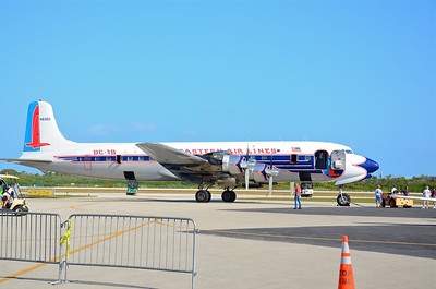 One of the highlights of the show was this restored Eastern Airlines DC-7B.  Built by Douglas Aircraft in 1958, this 50 passenger airliner presents a wonderful look at what air travel looked like before jet engines and computers dominated the skies.