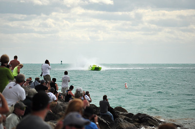 November 2009 was the 29th annual SuperBoat World championship race held in Key West.  These boats running in various classes reach speeds up to 125 mph while running a course into the main harbor providing spectacular views for race fans.