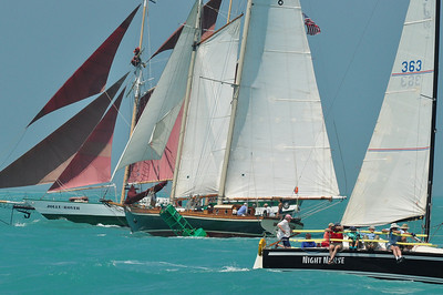 A Wrecker's Race is held four times a year over a 7 mile course from Key West to Sand Key. This is the March 2010 race.