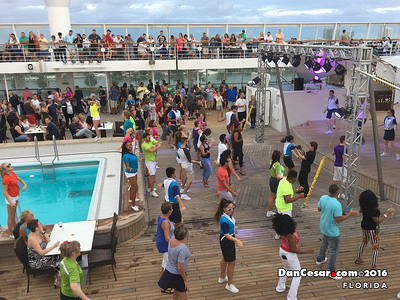 Party on the top deck