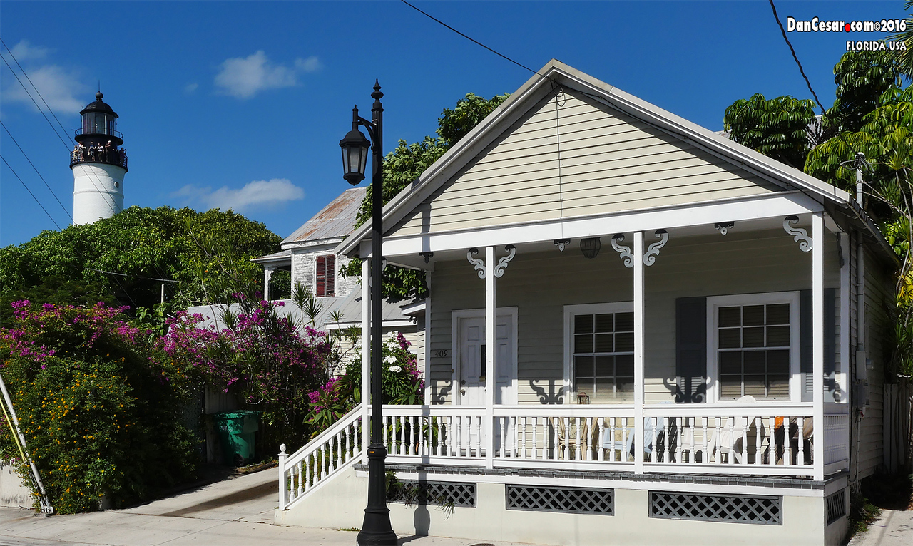 Key West House with Lighthouse in the background