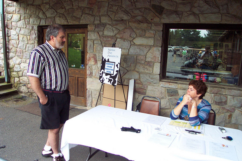 Pete Garafalo checks in with Tournament Dir. Lolly Lesher