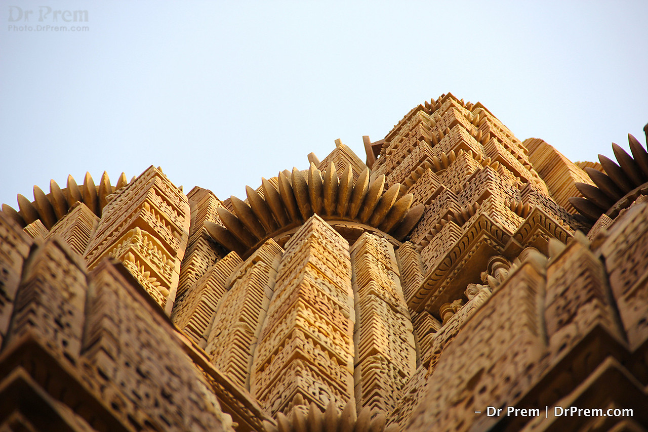 Khajuraho temple is made of sandstone without the use of mortar.