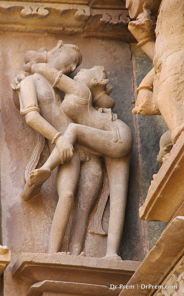 The architect of Chandela dynasty had designed auspicious and protective aspect of erotic figures where couples decorate the temples.