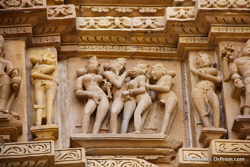 Sexual images represents fertility rituals at the time of medieval India. Fertility includes purpose of procreation & cannotations, aversion of evil & misfortune and promotion of life & happiness.