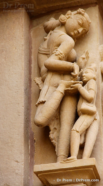 Beautiful women in Khajuraho
